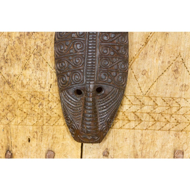 Tribal Tribal Carved Tear Drop Mask For Sale - Image 3 of 8