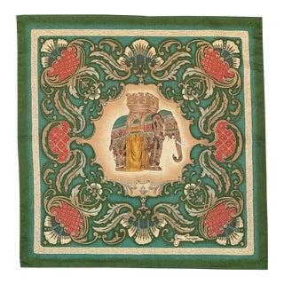 Jim Thompson Royal Elephant Printed Silk Napkins - Set of 6 For Sale