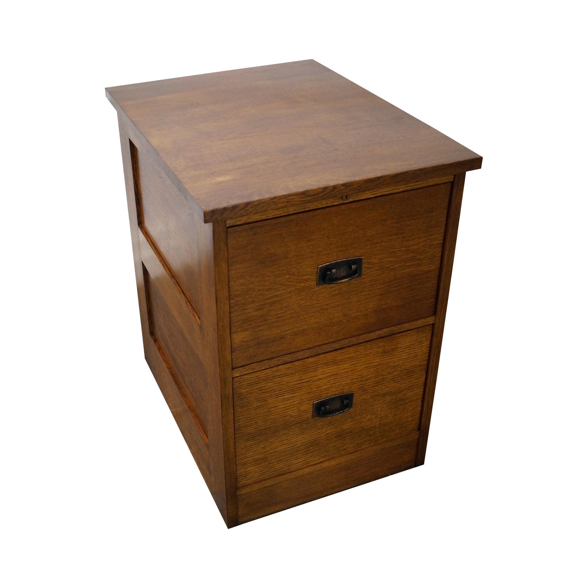 Stickley Mission Oak 2 Drawer File Cabinet For Sale   Image 11 Of 11