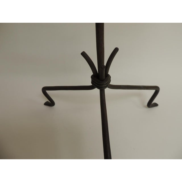 Vintage Rustic Iron Tripod Candelabra - Image 3 of 4