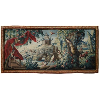 "Antique Tapestry After Jean Pillement - ""À La Pagode Et Au Carquois"" For Sale"