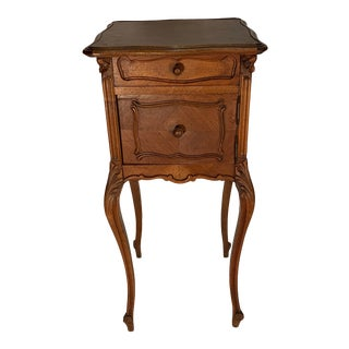 1920s French Walnut Bedside Cabinet For Sale