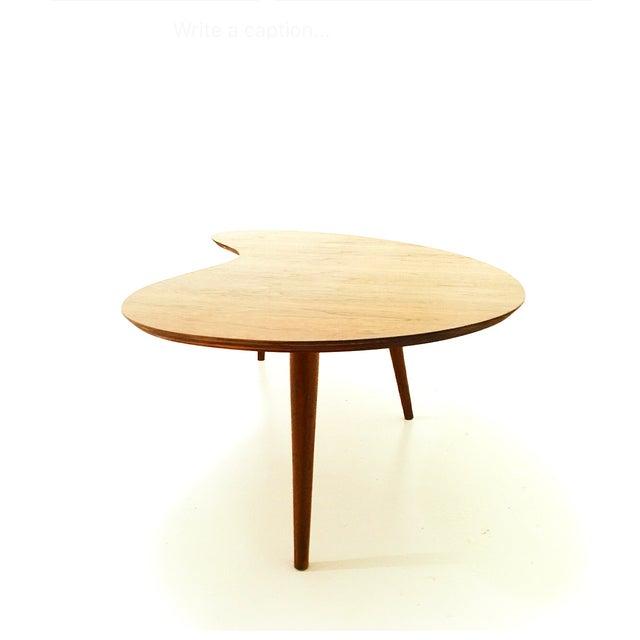 Mid-Century Walnut Boomerang Coffee Table - Image 4 of 4