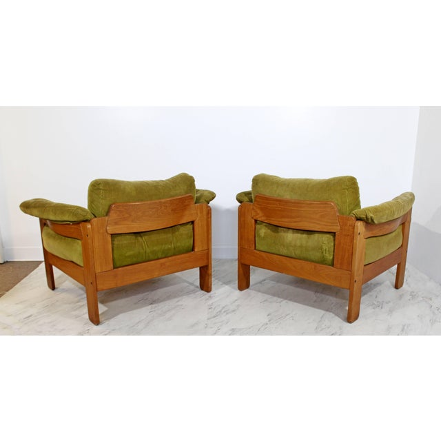 Green Pair of 1960s Mid-Century Modern N. Eilersen Danish Lounge Chairs For Sale - Image 8 of 12