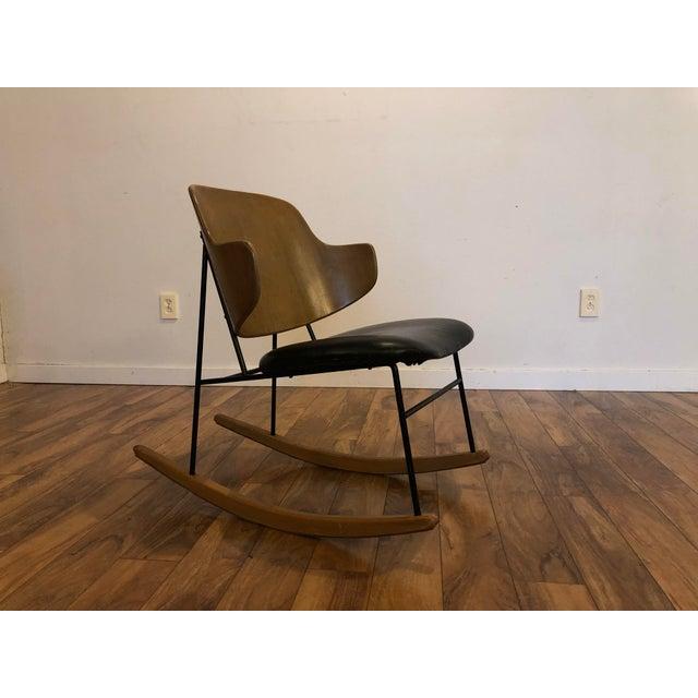 Vintage Kofod Larsen Penguin Rocking Chair For Sale - Image 12 of 12