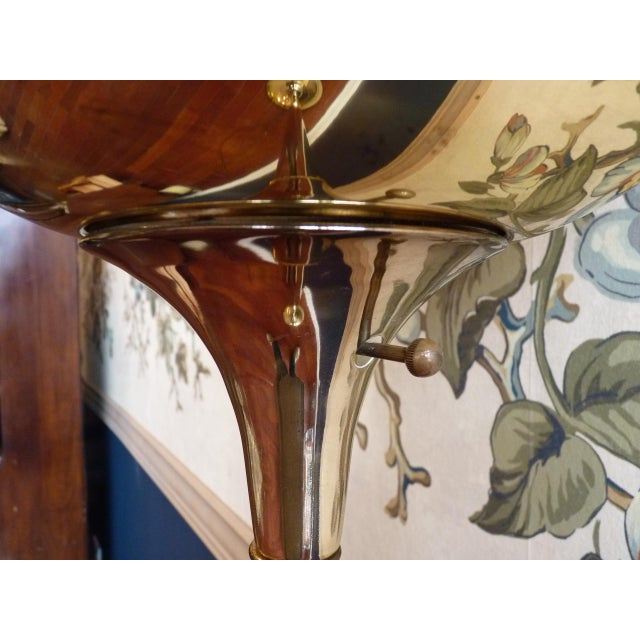 Brass Torchiere Floor Lamp - Image 4 of 6