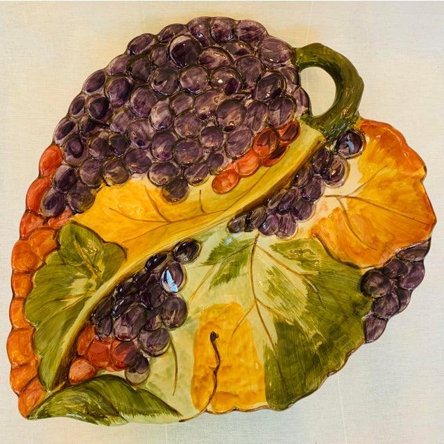 """Vintage Certified International Pamela Godding 2 part divided large serving platter. Discontinued """"Tuscany"""" pattern...."""
