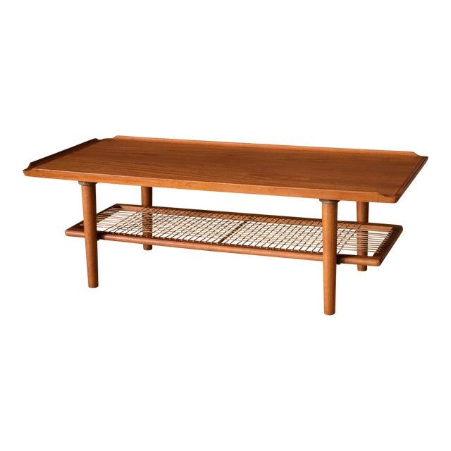 1b7edf9fbc 1960s Danish Modern Teak Coffee Table and Magazine Rack   Chairish