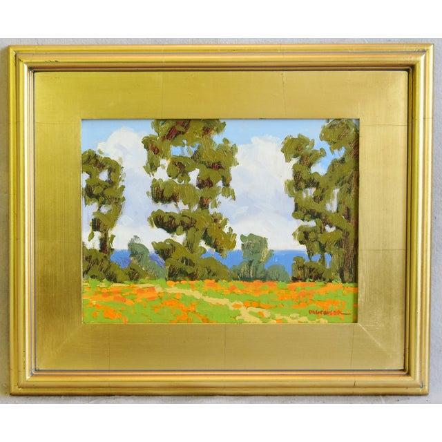 Blue Marc a Graison, California Plein Air Coastal Landscape Oil Painting For Sale - Image 8 of 9
