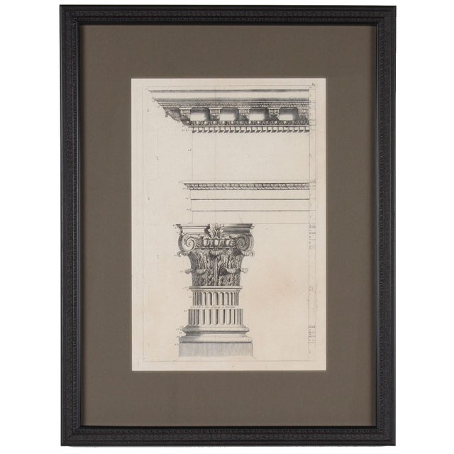 19th C. Framed Antique Architectural Etching Porta Leoni For Sale In San Francisco - Image 6 of 6