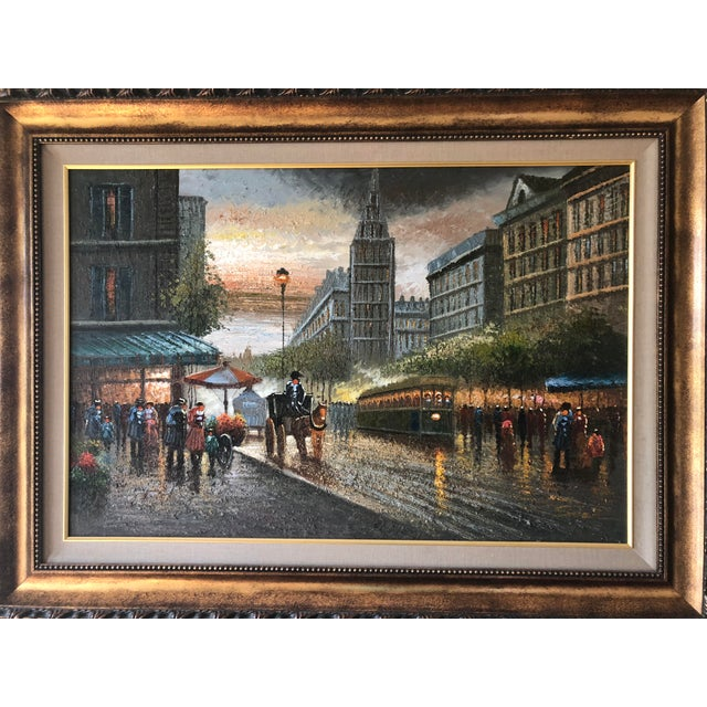 Traditional London Street Scene Painting For Sale - Image 3 of 3