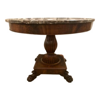 Wailliam IV Marble Top Center Table For Sale