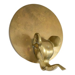 Brass Elephant Head Wall Hanging For Sale