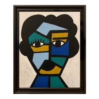 Original Framed Modern Portrait of a Woman For Sale