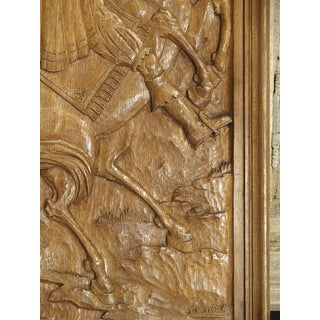 Set of Three Bas Relief Carved Belgian Panels, Circa 1930 Preview