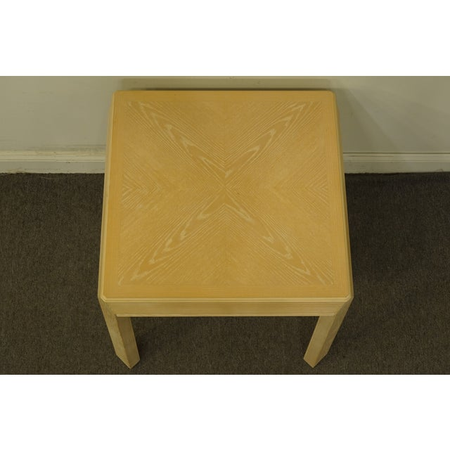 """Drexel Heritage 20th Century Transitional Drexel Heritage Collection Contemporary Blonde 27"""" Square Accent Table For Sale - Image 4 of 10"""