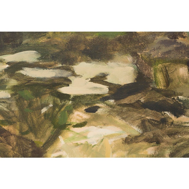 """Slater Sousley, """"The Overgrowth on the Bank"""" For Sale In Chicago - Image 6 of 8"""