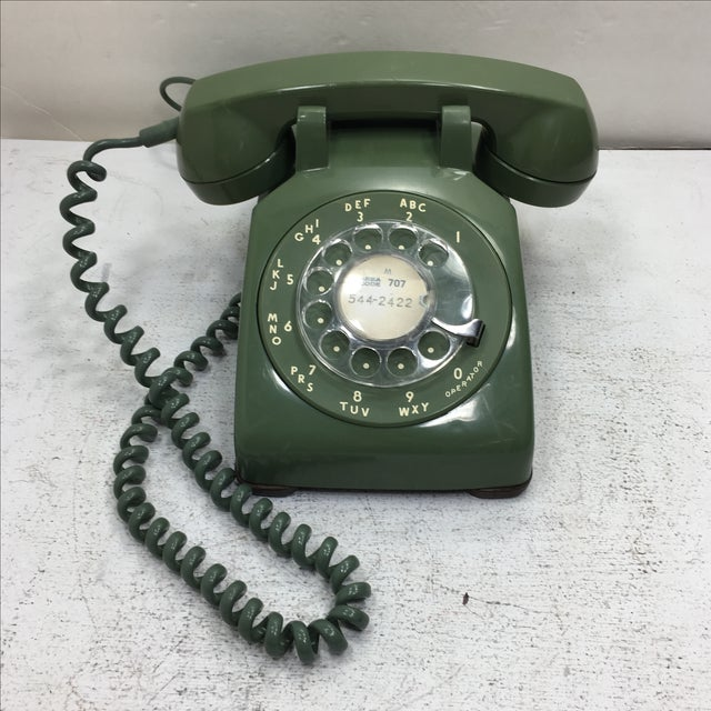 Moss Green Rotary Dial Telephone - Image 2 of 9