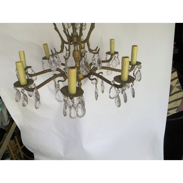 1950's Hollywood Regency Crystal Chandelier - Image 3 of 6
