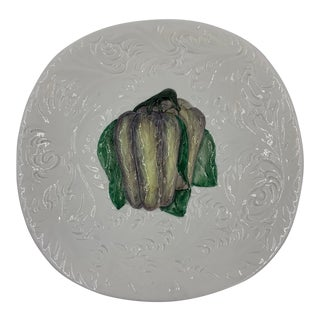 CPL Italy Ceramic Plate With an Eggplant For Sale