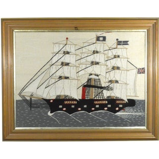 Sailor's Woolwork (Woolie) of a Ship of Large Size, Circa 1875-1895 For Sale
