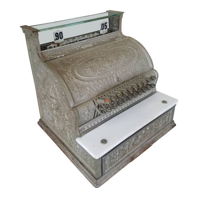19th Century Neoclassical Iron Cash Register For Sale