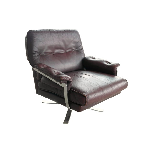 Arne Norell Hand-Stitched Leather Lounge Chair - Image 1 of 10