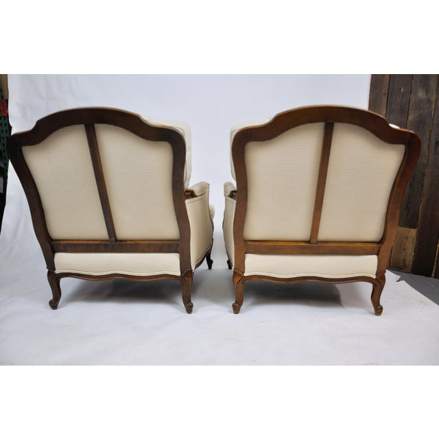 American Pair of Vintage Queen Anne Wingback Chairs For Sale - Image 3 of 13