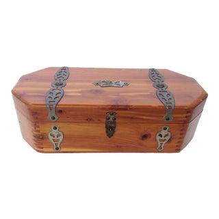 Wood Dovetailed Jewelry Trinket Box McGraw Box Co