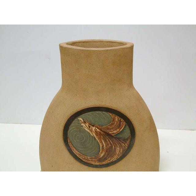 Green 1978 Nittenegger Stoneware Vase For Sale - Image 8 of 10