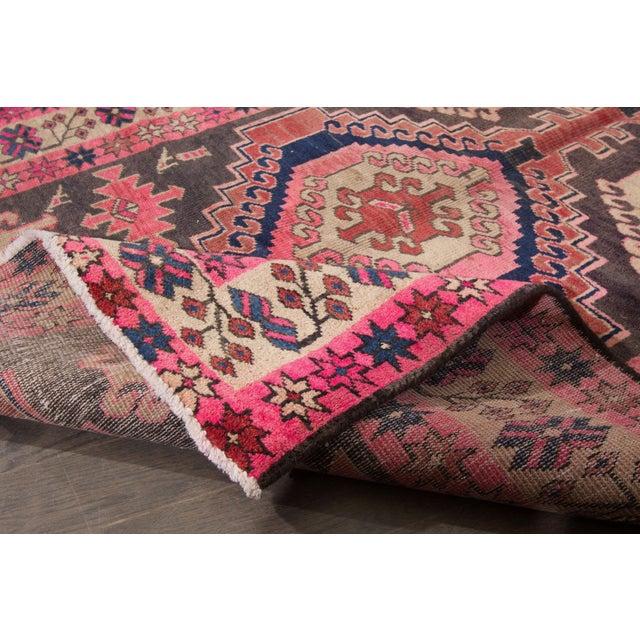 "Vintage Persian Heriz Rug, 3'8"" X 10'9"" - Image 6 of 8"