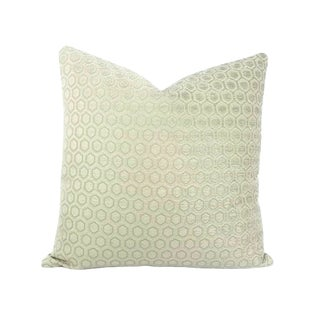 Jim Thompson Intara Seafoam Light Sage Chenille Pillow Cover For Sale
