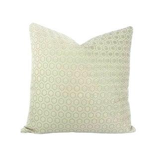 Jim Thompson Intara Seafoam Light Sage Chenille Pillow Cover For Sale