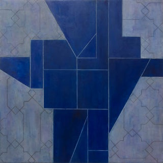Walking on Water - Abstract Geometric Painting by Stephen Cimini For Sale