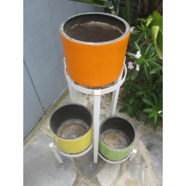 Modernist Plant Stand + California Pot Set Planter - Image 5 of 6