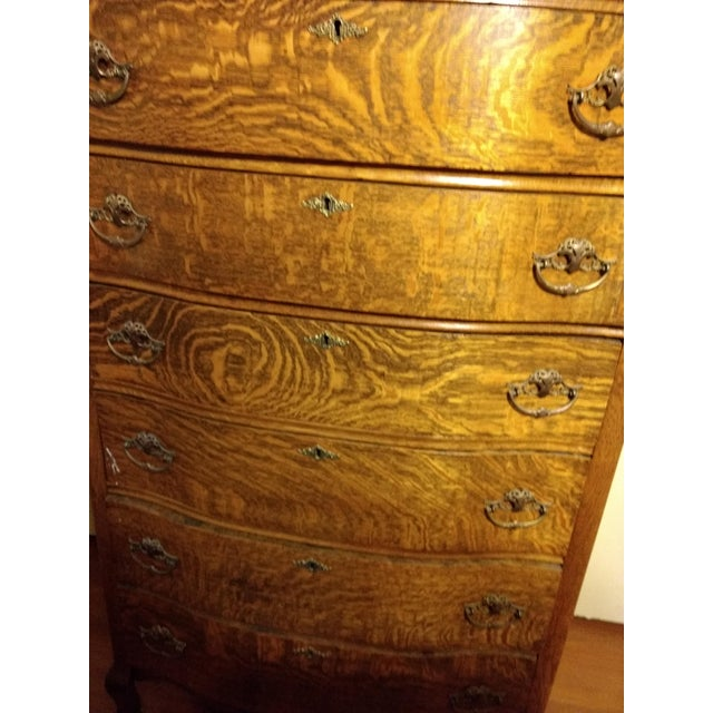 Early 20th Century 20th Century Traditional Restored Tiger Oak Highboy For Sale - Image 5 of 9
