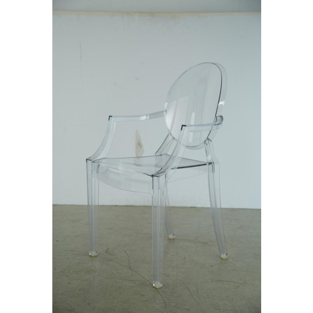 Contemporary Louis XVI Ghost Chairs by Philippe Starck for Kartell, Unused With Original Tags, 12 Available For Sale - Image 3 of 10