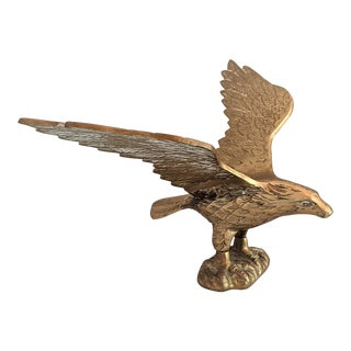 Flying Brass Eagle Figurine For Sale