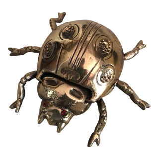 Beetle Scarab Brass Box For Sale