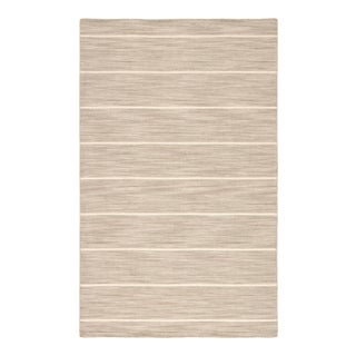 Jaipur Living Cape Cod Handmade Stripe Gray White Area Rug 2'X3' For Sale