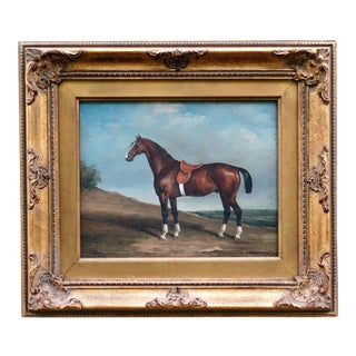 Race Horse Oil Painting, C Harrison