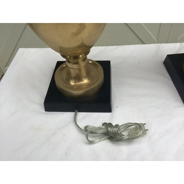 Chapman Brass Urn Lamps, a Pair For Sale - Image 11 of 12