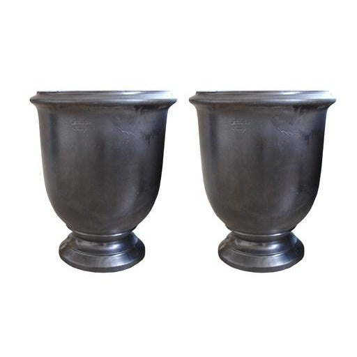 Large French Provence Graphite Colored Urn - Image 5 of 5