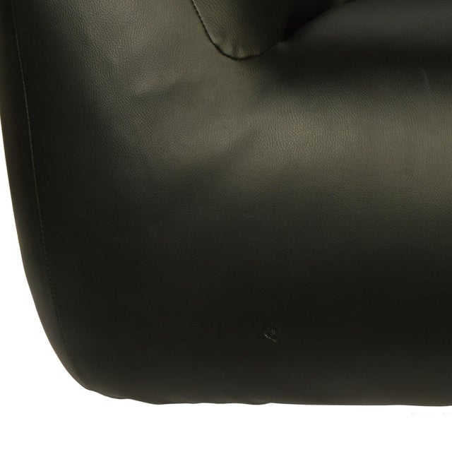 Mario Bellini 1980s Vintage Overstuffed Lounge Chair For Sale - Image 4 of 6