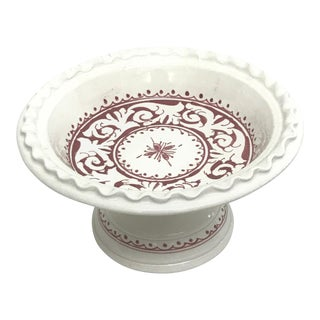 Moroccan Small Ceramic & Handpainted Coupe Plate For Sale