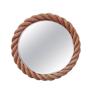 1960s Vintage Audoux Minet Rope Mirror For Sale