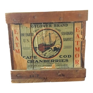1920s Cape Cod Cranberry Crate For Sale