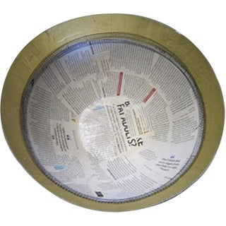 South African Large Paper Bowl with Stitch For Sale