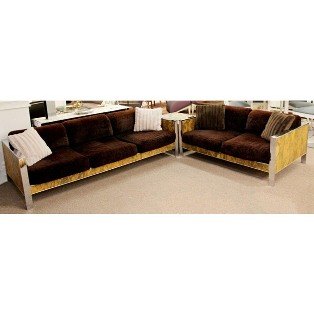 Sensational Mid Century Modern Adrian Pearsall Chrome Cork Sofa Bralicious Painted Fabric Chair Ideas Braliciousco