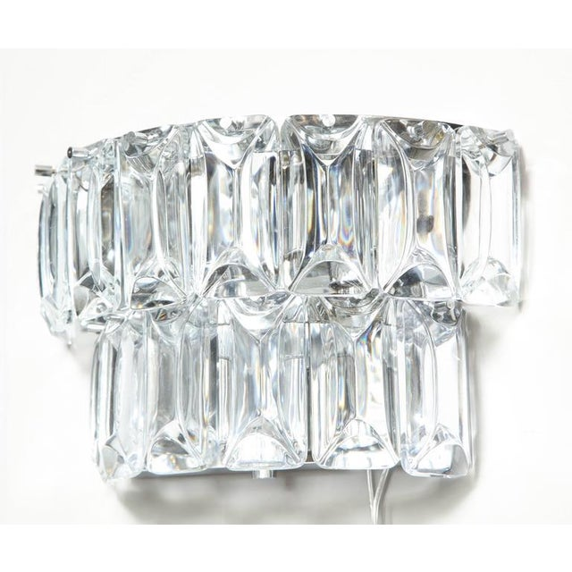 Glamorous 1970s Austrian Crystal Sconces For Sale In New York - Image 6 of 10